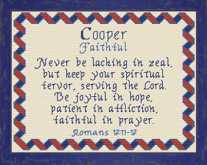 name blessings - cooper