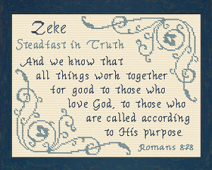 Name Blessings - Zeke | Crafting | Cross-Stitch | Other