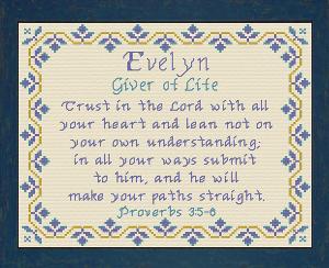 name blessings - evelyn 2