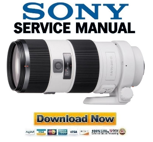 SONY SAL70200G 70 200mm F2.8 G Lens Service Manual Repair Guide   eBooks   Technical