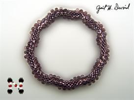 3-drop spiral bead crochet bracelet