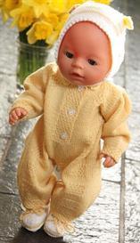 DollKnittingPattern - 0021D OLIVIA&OLIVER - Babysuit, 2 hats, socks | Crafting | Knitting | Other