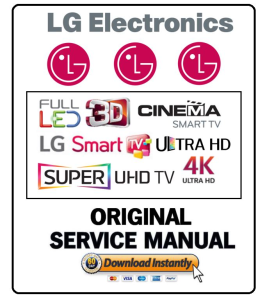 LG 60LF6300 Smart LED TV Service Manual and Technicians Guide