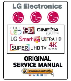 lg 65uf8600 4k smart 3d led tv service manual and technicians guide