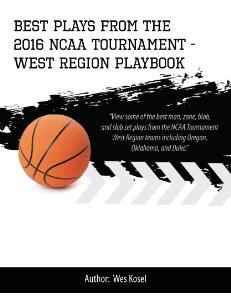 2016 ncaa tournament west region playbook