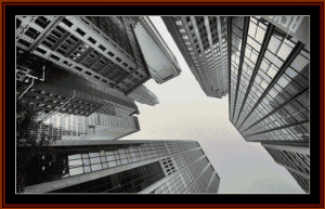 Urban Skyscrapers cross stitch pattern by Cross Stitch Collectibles   Crafting   Cross-Stitch   Wall Hangings