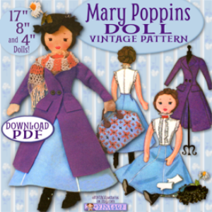 mary poppins cloth doll vintage pattern
