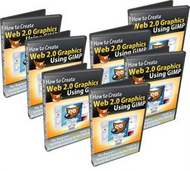 how to create web 2.0 graphics using gimp with master resale rights
