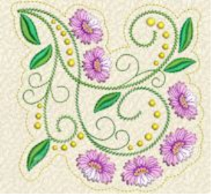 Laura's Delicate Florals Collection PES   Crafting   Embroidery