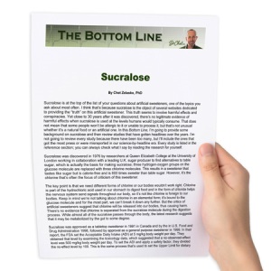sucralose - the bottom line