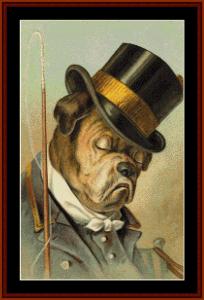 Top Hat - Vintage Dog cross stitch pattern by Cross Stitch Collectibles | Crafting | Cross-Stitch | Animals