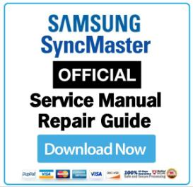 Samsung SyncMaster 920NW Service Manual and Technicians Guide | eBooks | Technical