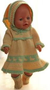 dollknittingpatterns 0145d sophia- (maart) - jurk, broek, sokjes en hoofddoekj-(nederlands)