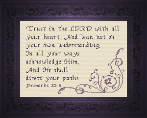 Direct Your Paths | Crafting | Cross-Stitch | Religious