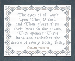 The Eyes Of All Wait | Crafting | Cross-Stitch | Religious