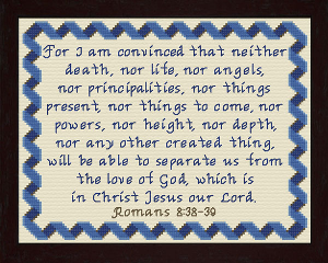 For I am Convinced | Crafting | Cross-Stitch | Religious