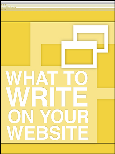 what to write on your website special report