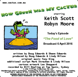 CACTUS 6 April 2016 The Food of Love   Other Files   Everything Else