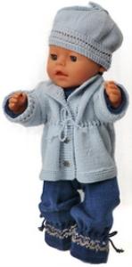 DollKnittingPatterns 0146D LORENZE - Jakke, Dress, Lue og Sko-(Norsk) | Crafting | Knitting | Other