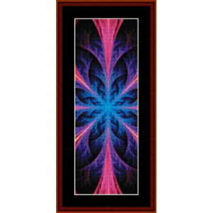 fractal 550 bookmark cross stitch pattern by cross stitch collectibles
