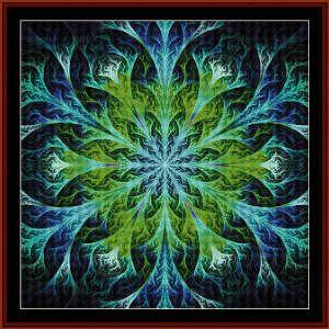 fractal 555 cross stitch pattern by cross stitch collectibles