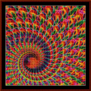 fractal 558 cross stitch pattern by cross stitch collectibles