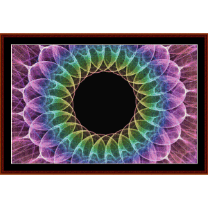fractal 559 cross stitch pattern by cross stitch collectibles