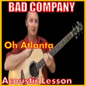 learn to play oh atlanta by bad company