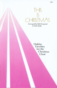 this is christmas - piano/vocal score