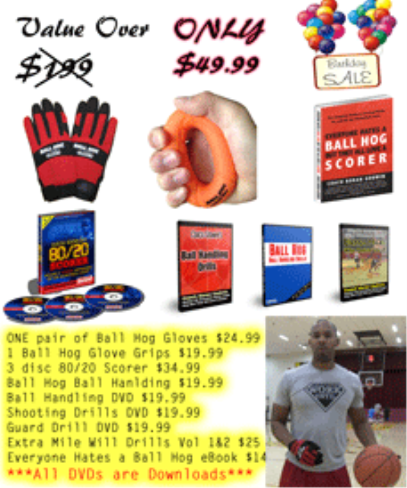 First Additional product image for - Coach Godwin (Size XL Gloves) B Day Ball Hog 9 DVDs Special