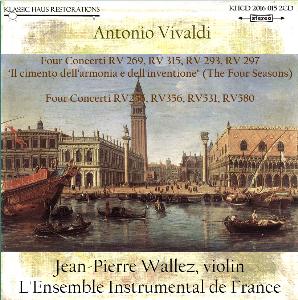 Vivaldi: The Four Seasons & Four Concerti for Strings - L'Ensemble Instrumental de France/Jean-Pierre Wallez | Music | Classical