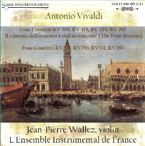 vivaldi: the four seasons & four concerti for strings - l'ensemble instrumental de france/jean-pierre wallez