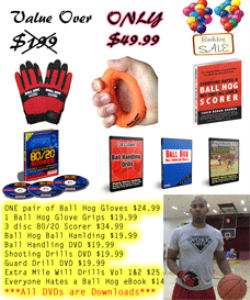 coach godwin (size m gloves) b day ball hog special 9 dvds