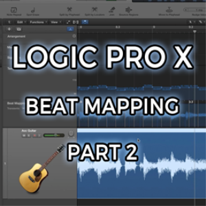 logic pro x - beat mapping - part 2 (video tutorial)