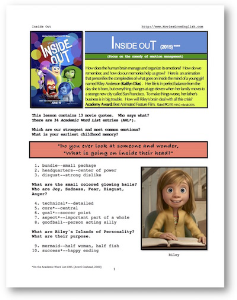 inside out, whole-movie english (esl) lesson