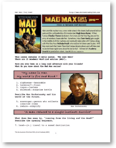 mad max: fury road, whole-movie english (esl) lesson