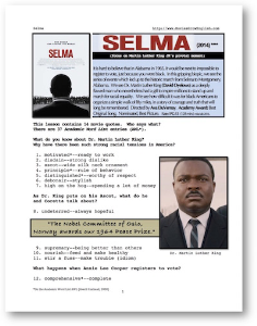 selma, whole-movie english (esl) lesson