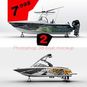 boat mockup  template