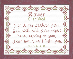 Name Blessings - Rowen | Crafting | Cross-Stitch | Other