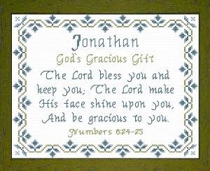 Name Blessings - Jonathan 2 | Crafting | Cross-Stitch | Other