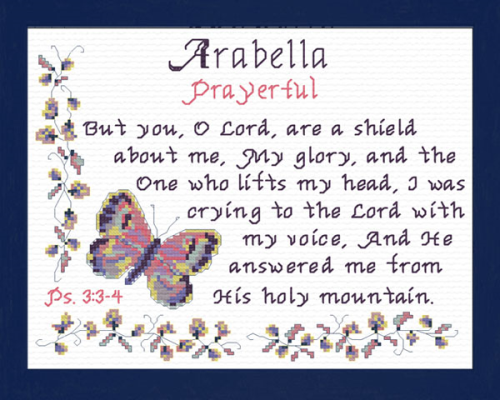 First Additional product image for - Name Blessings - Arabella 2