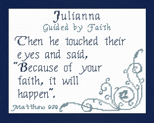 Name Blessings - Julianna | Crafting | Cross-Stitch | Religious