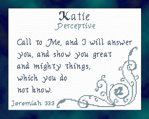 Name Blessings - Katie 2 | Crafting | Cross-Stitch | Religious