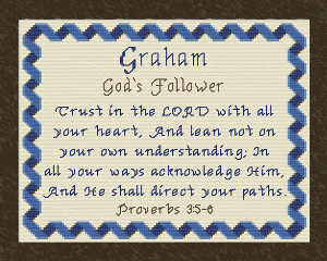 Name Blessings - Graham | Crafting | Cross-Stitch | Other