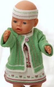 DollKnittingPatterns 0147D SOPHIA - Kjole, Sommerjakke, Truse, Sokker og Hårbånd-(Norsk) | Crafting | Knitting | Other