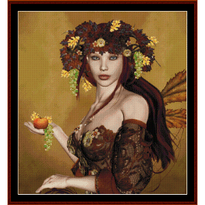 autumn fantasy - fantasy cross stitch pattern by cross stitch collectibles
