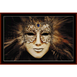 Luxurious Silver Mask - Fantasy cross stitch pattern by Cross Stitch Collectibles | Crafting | Cross-Stitch | Other
