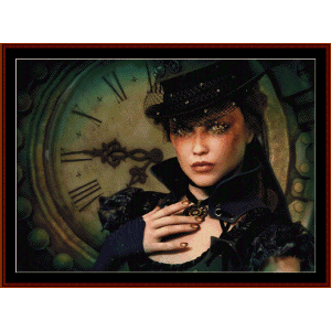 steampunk time - fantasy cross stitch pattern by cross stitch collectibles