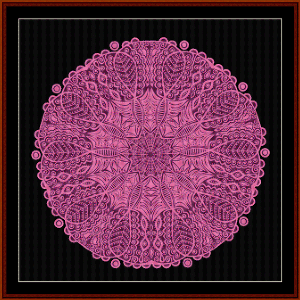 fractal 563 cross stitch pattern by cross stitch collectibles