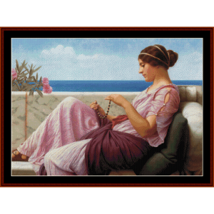 a souvenir, 1920 - godward cross stitch pattern by cross stitch collectibles